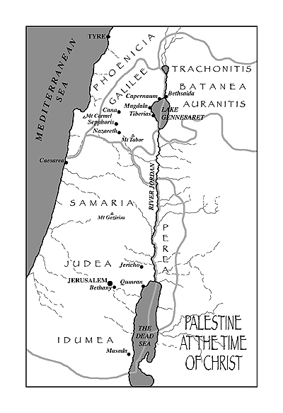 maps of israel in jesus time. GnosticQ.com